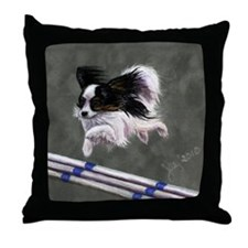 Black in Agility Throw Pillow