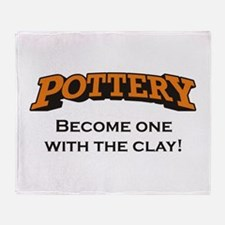 Pottery / Clay Throw Blanket
