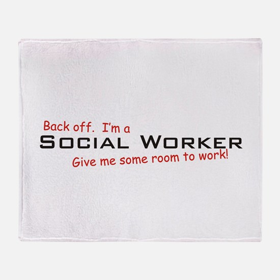 I'm a Social Worker Throw Blanket