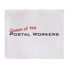 Postal Workers / Queen Throw Blanket