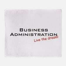 Funny Mba Throw Blanket