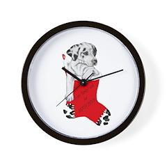 Harley Great Christmas Pup Wall Clock
