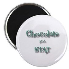 "Chocolate STAT 2.25"" Magnet (100 pack)"