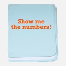 Show me the numbers! baby blanket