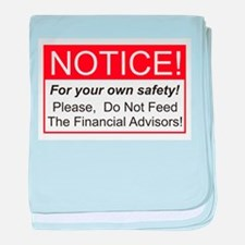 Notice / Financial Adv. baby blanket
