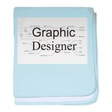 Graphic Designer baby blanket