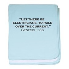 Electricians / Genesis baby blanket