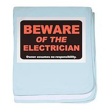 Beware / Electrician baby blanket