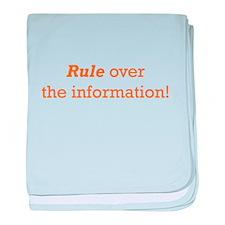 Rule / Information baby blanket