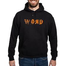 Orange Word Hoodie