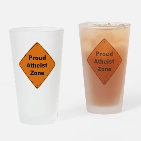 Atheist Zone Drinking Glass