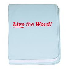 Live / Word baby blanket