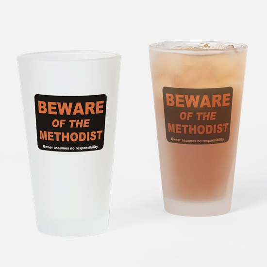 Beware / Methodist Drinking Glass