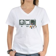 eat_sleep_art_back T-Shirt