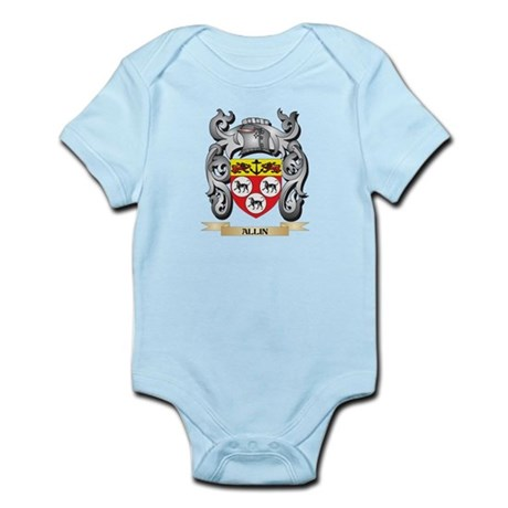 Allin Family Crest - Allin Coat of Arms Body Suit