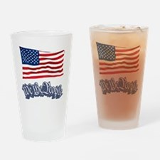 We The People w/Flag Drinking Glass