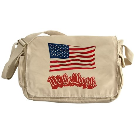 We The People w/Flag Messenger Bag