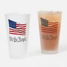 W.T.P. W/Flag Drinking Glass