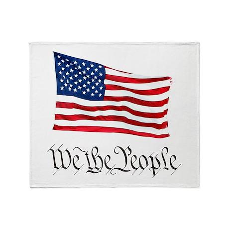 W.T.P. W/Flag Throw Blanket