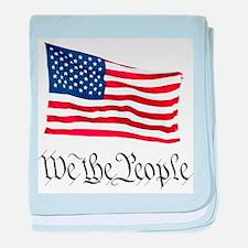 W.T.P. W/Flag baby blanket