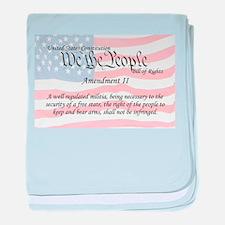 Amendment II and Flag baby blanket