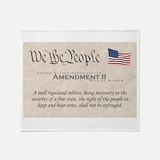 Amendment II w/Flag Throw Blanket