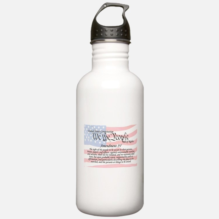 Amendment IV and Flag Water Bottle