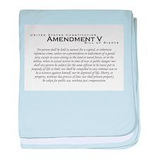 Amendment V baby blanket