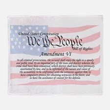 Amendment VI and Flag Throw Blanket