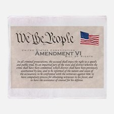 Amendment VI w/Flag Throw Blanket
