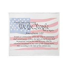 Amendment VII and Flag Throw Blanket