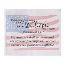 Amendment VIII and Flag Throw Blanket