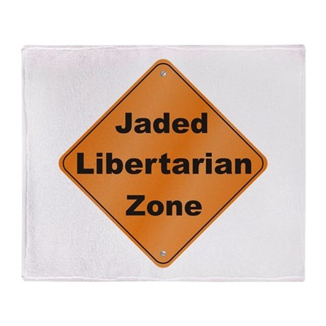 Jaded Libertarian Throw Blanket