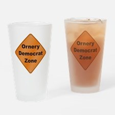 Ornery Democrat Drinking Glass
