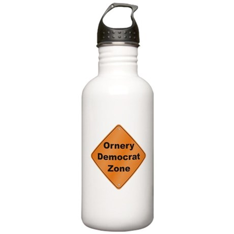 Ornery Democrat Stainless Water Bottle 1.0L