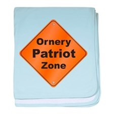 Ornery Patriot baby blanket