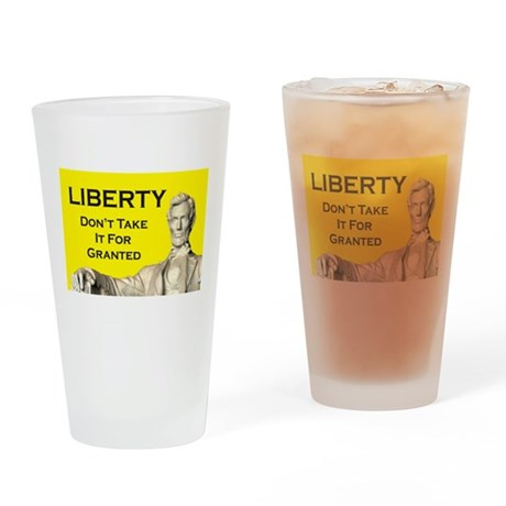 Lincoln/Liberty Drinking Glass