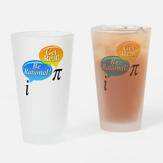 Pi, Get Real! Drinking Glass