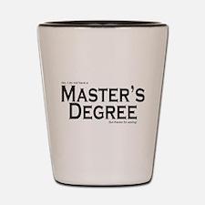 Master's Degree Shot Glass