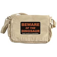 Beware / Dinosaur Messenger Bag