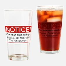 Notice / Artillerymen Drinking Glass