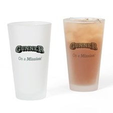 Gunner - On a Mission Drinking Glass