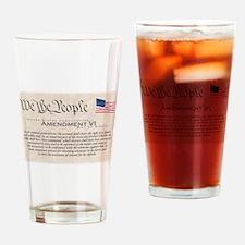 Amendment VI Drinking Glass