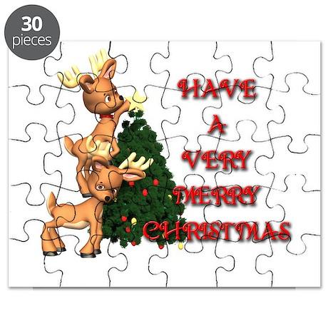 Reindeer Christmas Puzzle