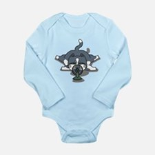 Eco cat 1 Long Sleeve Infant Bodysuit