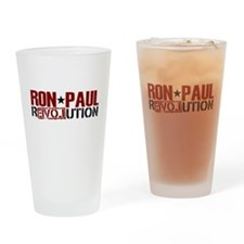 Ron Paul Star Drinking Glass