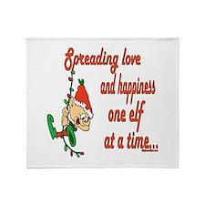 Spreading Love Elves Throw Blanket