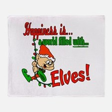 Happiness is an Elf Throw Blanket