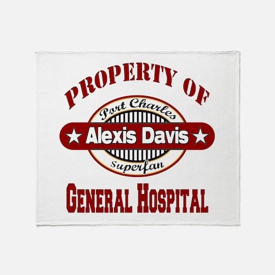 Property of Alexis Davis Throw Blanket