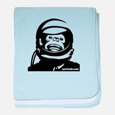 Space Monkey baby blanket